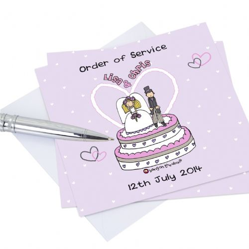 Personalised Bang on the Door Orders of Service Cards 20 Pack